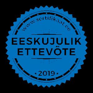 Eeskujulik Ettevõte 2019 logo